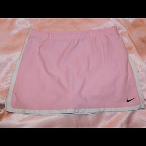 pink nike athletic skirt